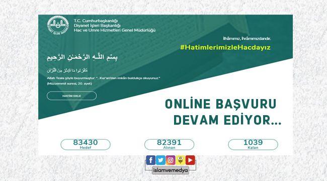Online Hatim Sitesine 82 binden fazla başvuru