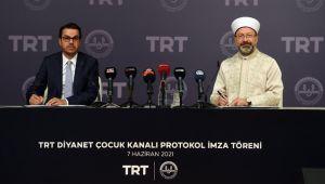 TRT Diyanet Çocuk için imzalar atıldı